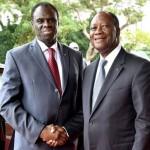 Les présidents Michel Kafando(à gauche) et Alassane Ouattara pour le renforcement de la coopération et de la fraternité historiques ente le Burkina et la Côte d'Ivoire.
