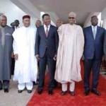 Des chefs d'Etat de la CEDEAO au sommet d'Abuja le 22 septembre 2015.