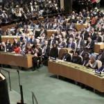 Le président Obama s'adresse à l'Assemblée générale de l'ONU, le 28 septembre 2015, à New York. REUTERS/Andrew Kelly