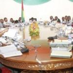 Le gouvernement ZIDA II de la transition burkinabè en conseil des ministres.
