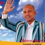 Monsieur Tahirou BARRY,candidat du PAREN.