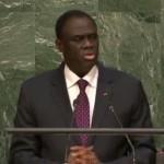 Michel Kafando à la 70e session de l'Assemblée générale des Nations Unies le 2 octobre 2015