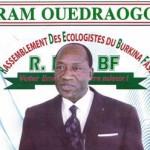 Ram Ouédraogo,candidat à la présidentielle 2015 au Burkina.