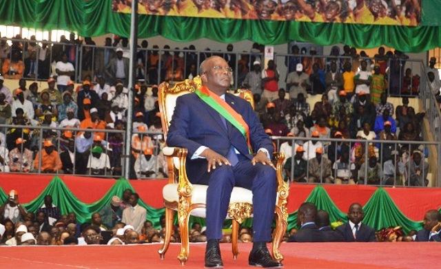 Roch Marc Christian Kaboré,Président du Faso à compter du 29 décembre 2015 pour un mandat de 5 ans renouvelable une fois.