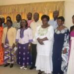 Photo de famille à l'atelier de l'APAC le 16 janvier 2016 à Ouagadougou.