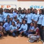 Des élèves-maîtres de la première promotion 2015/2016 de l'EPFEP DON-BOSCO de Ouagadougou.Burkina Faso.