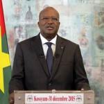 """Roch Marc Christian Kaboré,président du Burkina Faso:""""La force d'un peuple ne réside pas seulement dans sa capacité de s'accommoder à un environnement de paix et de stabilité, mais bien plus dans son aptitude à surmonter ses propres contradictions, pour conquérir, jour après jour, un espace où se consolide le « vouloir vivre ensemble ».Photo d'archives."""