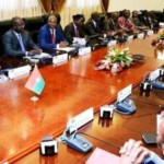 Le gouvernement burkinabè  THIEBA I en conseil des ministres.
