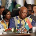 """Roch Marc Christian Kaboré,Président du Faso:""""Permettez-moi, de saisir l'opportunité qui m'est offerte, pour saluer l'excellence de la coopération entre le Burkina Faso et le Japon, et de noter avec satisfaction que la position du Japon au sein des Nations Unies et des autres instances internationales contribue à garantir un monde de paix et de justice, empreint de respect mutuel et de liberté."""""""