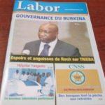 Le journal trimestriel Labor N°21 disponible dans des alimentations et boutiques de stations services TOTAL à Ouagadougou...