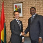 Le nouvel ambassadeur de France au Burkina Faso, Xavier LAPEYRE de CABANES a effectué une visite de courtoisie à l'ambassade du Burkina Faso à Paris, le 6 septembre 2016.