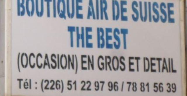 Boutique Suisse Air,devanture