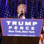 Donald Trump lors de son discours de victoire le 9 novembre 2016 à New York. REUTERS/Carlo Allegri