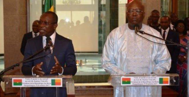 Coopération Bénin-Burkina:le communiqué conjoint du 10 Octobre 2017