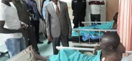 Le Ministre de la Sécurité au chevet des policiers blessés  de Natiaboani suite à l'attaque terroriste du 13 Février 2018