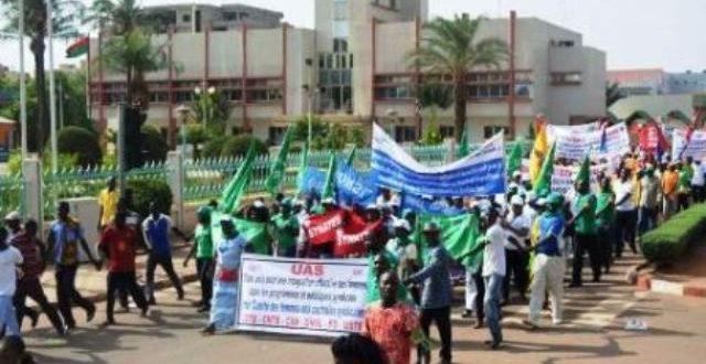 Syndicats des Finances du Burkina:suspension des grèves et sit-in jusqu'au 17 Juin 2018