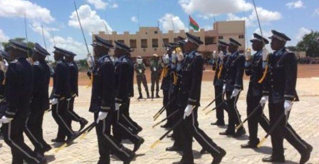 Police nationale du Burkina: rentrée des classes pour les 450 élèves-sous-officiers recrutés en 2019,le 23 janvier 2020