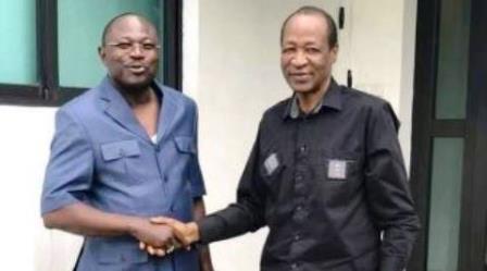 Nouvelle d'exil:Blaise Compaoré et Eddie Komboîgo sur photo