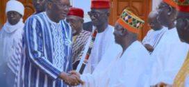 Rencontre du président du Faso avec les hautes autorités coutumières : les dépositaires de la tradition souhaitent la paix sociale au Burkina Faso.
