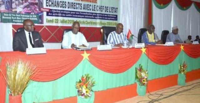 Secteur informel : plus de 1000 acteurs exposent leurs préoccupations au président du Faso.