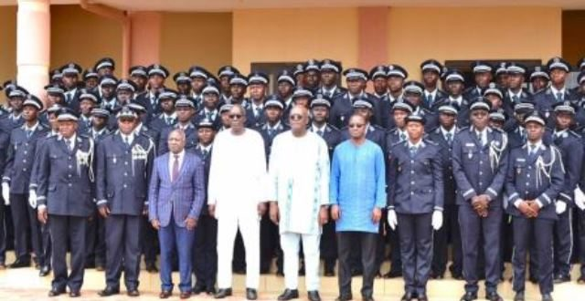Sortie de promotion à l'Académie de police le 18 juillet 2019: le président du Faso appelle les élèves sortants à plus de loyauté.