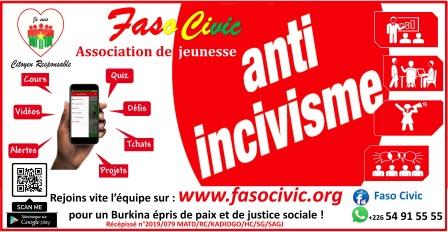 FASO CIVIC, une association de jeunesse pour le civisme au Burkina Faso munie d'une plateforme et d'une Web télé