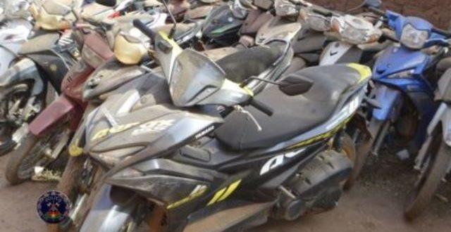 Commune de Ouagadougou: très bonne saisie-sanction par la police des motos de jeunes cascadeurs