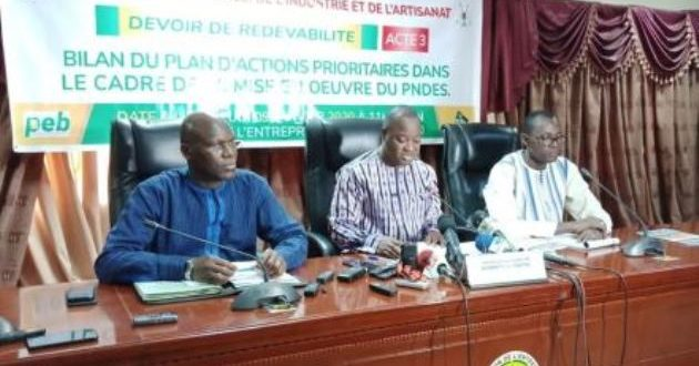 Situation du commerce, de l'industrie et de l'artisanat au Burkina Faso en 2019