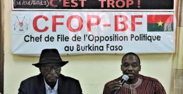 Le prochain gouvernement ne sera pas celui du MPP,prédit l'opposition burkinabè