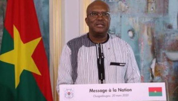 Message  à la Nation du président du Faso sur la situation du Coronavirus au Burkina