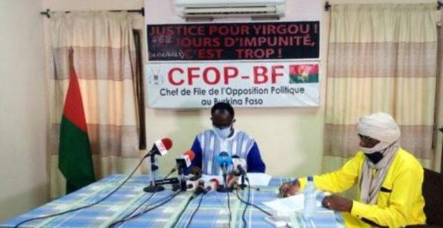COVID 19″le plan de riposte révisé et chiffré à 177 milliards de FCFA, est juste une nouvelle caverne d'Ali Baba pour le régime du MPP» déclare l'opposition burkinabè