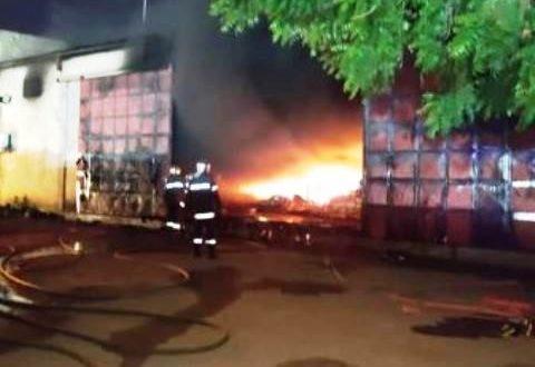 Incendie d'un dépôt pharmaceutique à Ouagadougou dans la nuit du 23 au 24 juillet 2020