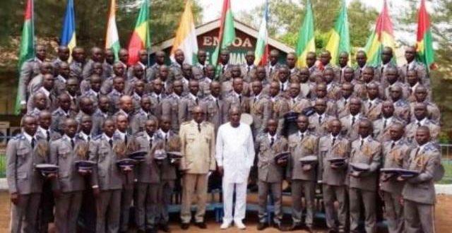 Sortie de la 11è promotion d'élèves sous-officiers au Burkina en 2020 avec plusieurs nationalités