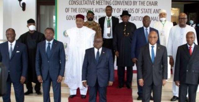 Sommet de la CEDEAO sur la situation politique au Mali : les sanctions maintenues jusqu'au « démarrage d'une transition civile »