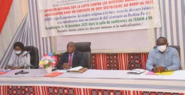 Symposium national sur la lutte contre le discours haineux et la radicalisation au Burkina Faso