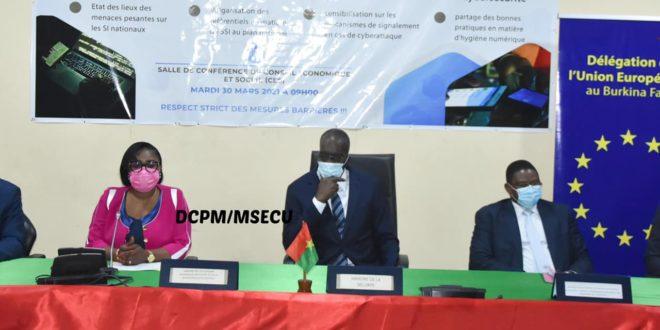 Lutte contre la cybercriminalité au Burkina : l'Union Européenne soutient le Ministère de la sécurité.